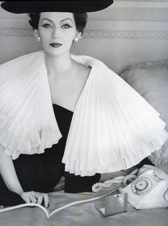 Dovima Wearing  Jacques Fath 1956 Photographed by Henry Clarke