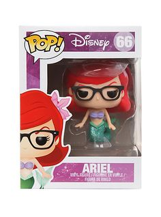 Disney Pop! The Little Mermaid Nerd Ariel Vinyl Figure | Hot Topic