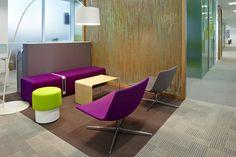 Belron International HQ UK: Designer - Scott Brownrigg Interior Design. 3form Varia Organics partition walls  #partitions #organics #3form #london #eco design