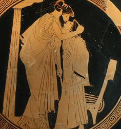 Kiss by the Briseis Painter Louvre 480 BC. George Sand, World Kiss Day, National Kissing Day, Free Magic Spells, Best Kisses, Greek Art, Ancient Greece, Ancient Egypt, Ancient History