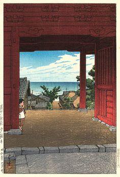 Tamonji Temple  by Kawase Hasui, 1934  (published by Watanabe Shozaburo)