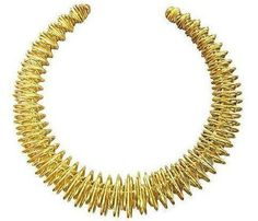 Wire Work Goldtone Collar on Chairish.com