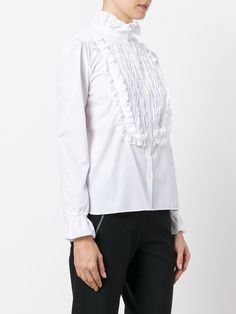 See By Chloé pie crust collar smocked blouse Ruffle Neck Blouse, Collar Blouse, See By Chloe, Winter Looks, Blouse Designs, Smocking, Pie, Clothes, Tops