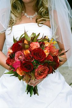 september wedding colors | ... are fabulous for fall. Let your fall colors shine, in your bouquets