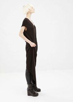 Rick Owens Silk Floating Dress (Black) Totokaelo