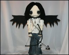 OOAK Hand Stitched Cupid Rag Doll Creepy Gothic by TatteredRags, $150.00