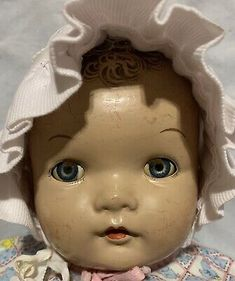"""Ideal Princess Beatrix 20"""" Curly Hair Mold Composition Doll Cloth Body Vntg 1939 