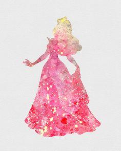 Princess Aurora Sleeping Beauty Watercolor Art - VividEditions