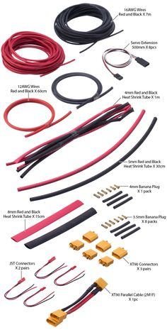 Multi-rotors Wire Pack (6-8 Rotors / 800-1300 class drones) - LE-0176