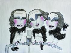 Trio Lescano - Acrylic on canvas