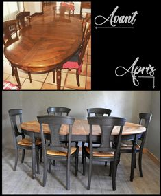 excellent walnut eating desk revamped with idparis and annie sloan merchandise Table, Dining Buffet, Refurbished Furniture, Furniture, Home Decor, Walnut Dining Table, Dining, Stencil Furniture, Dining Table