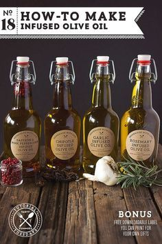How-to Make Infused Olive Oil // a great handmade holiday gift // Tasty Yummies