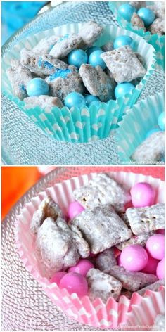 Chex Muddy Buddies Recipe for a Baby Shower (Pin . Chex Muddy Buddies Recipe for a Baby Shower (Pink & Blue) – Baby Shower Brunch, Baby Shower Cakes, Deco Baby Shower, Baby Shower Food For Girl, Baby Shower Snacks, Baby Shower Drinks, Fiesta Baby Shower, Shower Bebe, Baby Shower Desserts