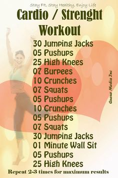 Cardiovascular and Strength Workout #exercise #cardio #workout -- the simple things in life can do great..