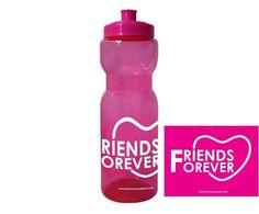 """Cilindro de plástico color fucsia personalizado $150  Diseño """" Friends forever"""" color blanco Despedidas de soltera / Cilindro San Valentin"""