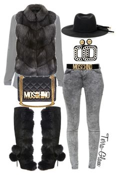 """""""Fur For The Burr!"""" by terra-glam ❤ liked on Polyvore featuring Jimmy Choo, Elie Tahari, Harrods, Zara, Moschino, Gucci, women's clothing, women, female and woman"""
