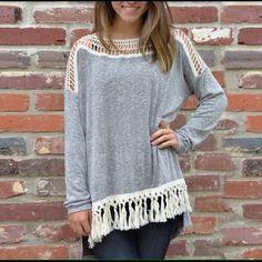 Beautiful Tassel Sweater Brand new, size medium Sweaters Crew & Scoop Necks