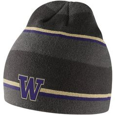 4f3eca98e5cce8 Nike Washington Huskies Striped Knit Beanie - Anthracite/Purple/Gold  Florida State University,