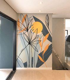 Creative Wall Painting, Creative Wall Decor, Interiores Art Deco, 3d Wallpaper Mural, Small House Interior Design, Mini Canvas Art, Wall Drawing, Mural Wall Art, Inspirational Wall Art
