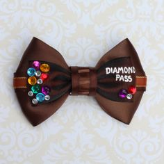 Seven Dwarfs Mine Train Inspired Bow by SmallWorldBows on Etsy, $9.00
