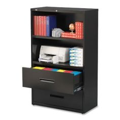 Hirsh Industries Lateral Combo File Cabinet, 36 by 18-3/5 by 60-Inch, Black: Amazon.ca: Office Products - $475