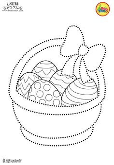 Easter Tracing and Coloring Pages for Kids - Free Preschool Printables and Worksheets, Fine Motor Skills Practice - Easter bunny, eggs, chicks and more on BonTon TV - Coloring books Easter Printables, Preschool Printables, Printable Crafts, Easter Coloring Pages, Coloring Pages For Kids, Coloring Books, Easter Art, Easter Crafts, Easter Bunny