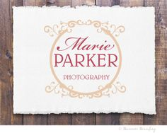 Premade Logo and Watermark for by BusinessBranding on Etsy, $25.00 Wedding Logos, Business Branding, Photography Business, Business Ideas, Shabby Chic, Place Card Holders, Graphic Design, Handmade Gifts, Etsy