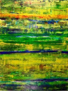"Saatchi Art Artist Nestor Toro; Painting, ""Over Green Landscapes"" #art"