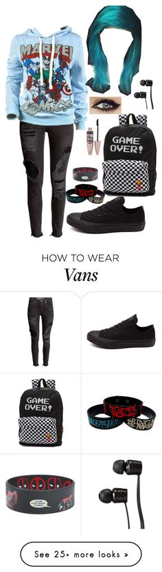 """""""cx"""" by hold-on-til-may on Polyvore featuring Marvel Comics, Converse, Vans and Maybelline"""