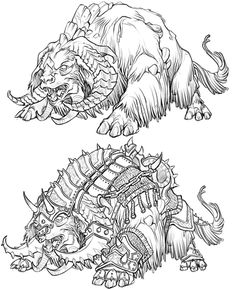 Concept Art with main focus on development of characters, races, costumes and creatures.