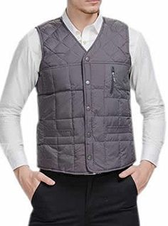 Vska Mens Stand Collar Full Zip Sleeveless Loose Knit Vest Jacket Blue L *** Find out more about the great product at the image link.