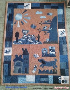 Denim Quilt  {image only because site blocked by Pintrest}