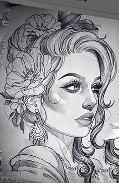 Tattoo Design Drawings, Cool Art Drawings, Pencil Art Drawings, Tattoo Sketches, Natur Tattoo Arm, Girl Drawing Sketches, Desenho Tattoo, Tattoo Stencils, Female Art