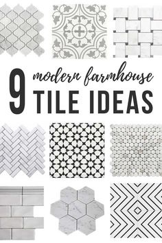9 Modern Farmhouse Tile Ideas ( How To Tile A Floor) -I especially love the black and white cement tile option! These neutral tile options are so perfect for the modern farmhouse style. Treatment Projects Care Design home decor Modern Farmhouse Bathroom, Farmhouse Style Kitchen, Modern Farmhouse Style, Farmhouse Design, Home Decor Kitchen, Farmhouse Decor, Kitchen Ideas, White Farmhouse, Farmhouse Frames