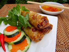 Vietnamese Deep-fried Spring Roll (Nem) Vietnamese Deep-fried Spring Roll is a delicious dish on Tet traditional tray of foods in North Vietnam. This crispy and smelling roll is eaten with sweet and sour fish sauce dip become more and more popular among Vietnamese people and foreigners.