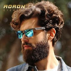 FuzWeb:AORON brand classic leisure polarized vintage sunglasses men's fashion metal frame designer glasses unisex eyewear oculos de sol