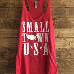 Small Town Usa Women's Trendy Tshirt 4th July Tank Shirts for 4th of... (1,320 PHP) ❤ liked on Polyvore featuring tops, black, women's clothing, lined shirt, american flag shirt, fitted tops, black american flag shirt and american flag top