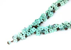 Hey, I found this really awesome Etsy listing at https://www.etsy.com/ca/listing/219807647/mint-necklace-floral-necklace-mint