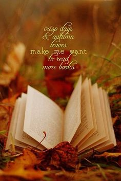 Crisp days & autumn leaves make me want to read more books.