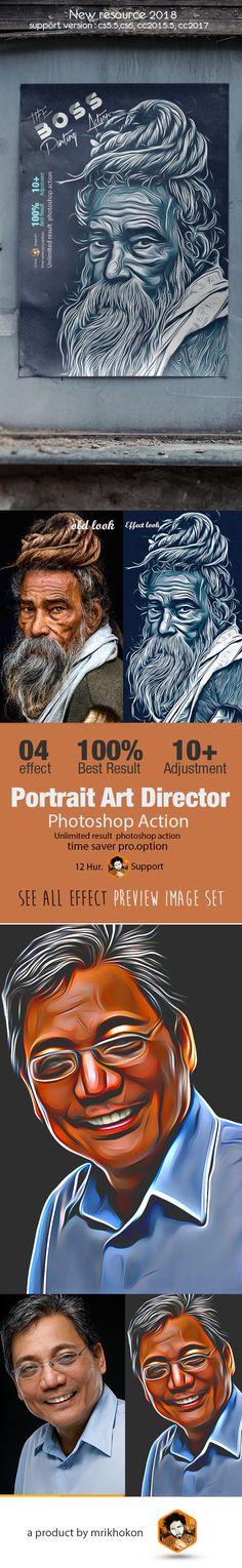 #Portrait #Art Director - Photo Effects #Actions