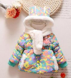 Baby Girl Hooded Camouflage Jacket – CHILDREN TERRITORY Kids Winter Jackets, Winter Kids, Baby Winter, Snow Wear, Camouflage Jacket, Rabbit Baby, Baby Coat, Toddler Girl, Baby Girls