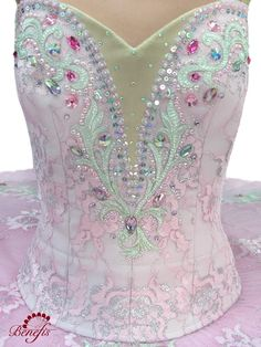 beautiful beading on this tutu bodice