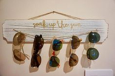 Excited to share the latest addition to my shop: Rustic Sunglass Holder/Wall Display- Whitewashed Wood Sunglasses Organizer, Sunglasses Storage, Sunglasses Holder, Sunnies, Diy Home Crafts, Wood Crafts, Wood Images, Whitewash Wood, My New Room
