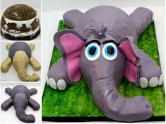 The Perfect DIY Cute Little Elephant Cake