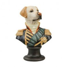 "Goebel - Thierry Poncelet - Marquis de Retriever - Porcelain bust - Porcelain bust ""Marquis de Retriever"" from the series ""Ancestral Dog Portraits"" by Thierry Poncelet. Height: 17 cm."