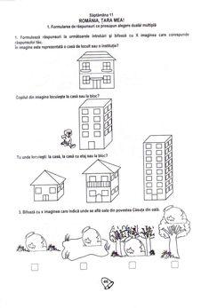 Fise de lucru School Worksheets, Kindergarten Worksheets, School Lessons, 1 Decembrie, Crafts For Kids, Gabriel, Pdf, Logo, Bebe
