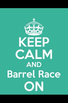 I'm a barrel racer and proud of it!