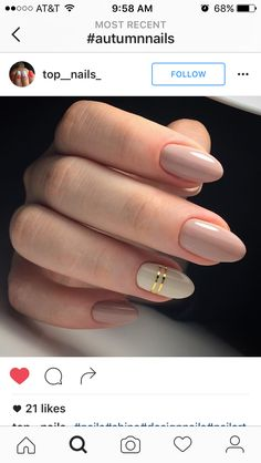 Autumn nails Beige and pastel nails Everyday nails Fall nails ideas Fashion autumn nails Gel polish on the nails oval Ideas of plain nails Medium nails Nagellack Design, Nagellack Trends, Ongles Beiges, Hair And Nails, My Nails, Nails 2017, Lavender Nails, Plain Nails, Plain Acrylic Nails