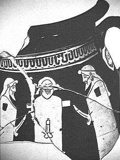 "Hermes or ""herm"" 2 (happy ones) (vase, 470 B. Greece Art, Ancient Mysteries, Socrates, Greek Gods, Ancient Greece, Ancient Art, Worship, Hermes, Mystery"