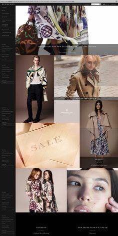 Top retailing websites - burberry